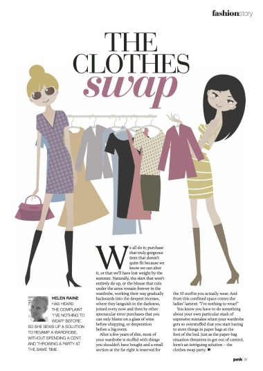 clothes swap to a new wardrobe for free