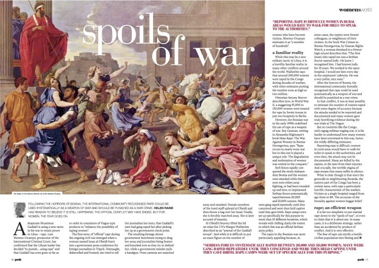 Women and war rape