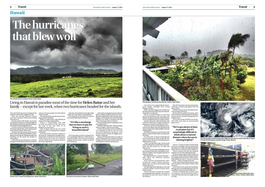 A near miss with a Hurricane on Kauai