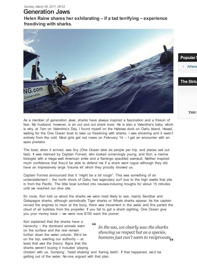 shark diving oahu hawaii 1