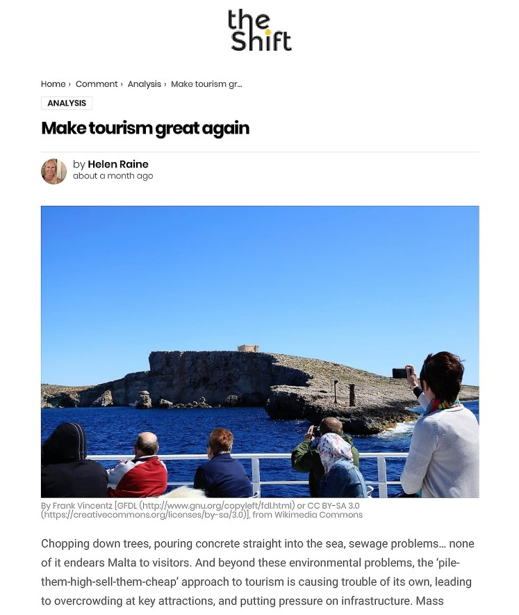 Make tourism great again – The Shift News-1
